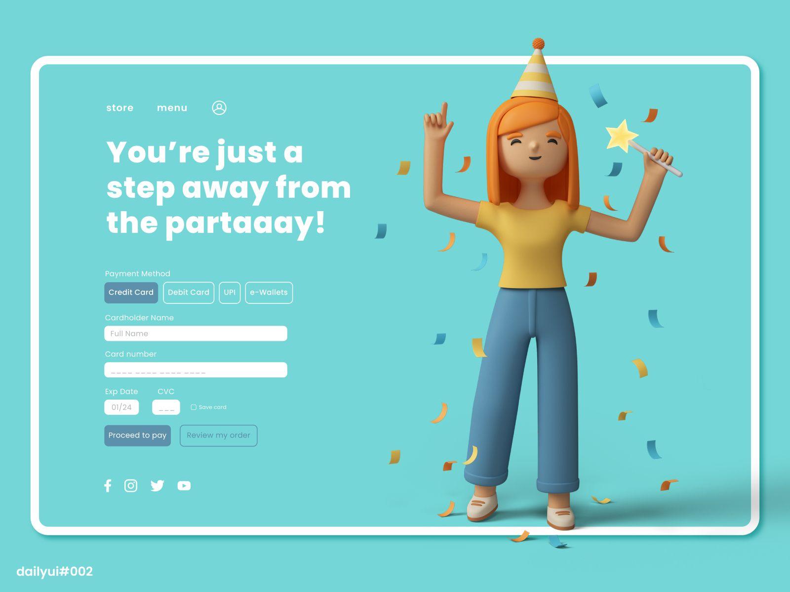 Web design inspiration: landing page by Rutuja Mungekar