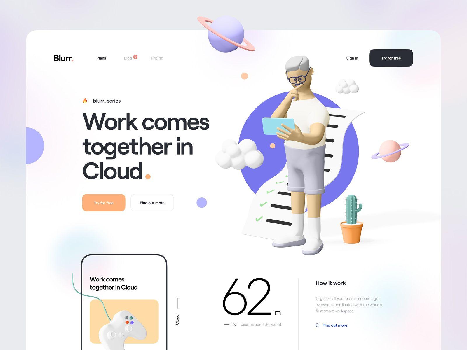 Web design inspiration: by Tran Mau Tri Tam