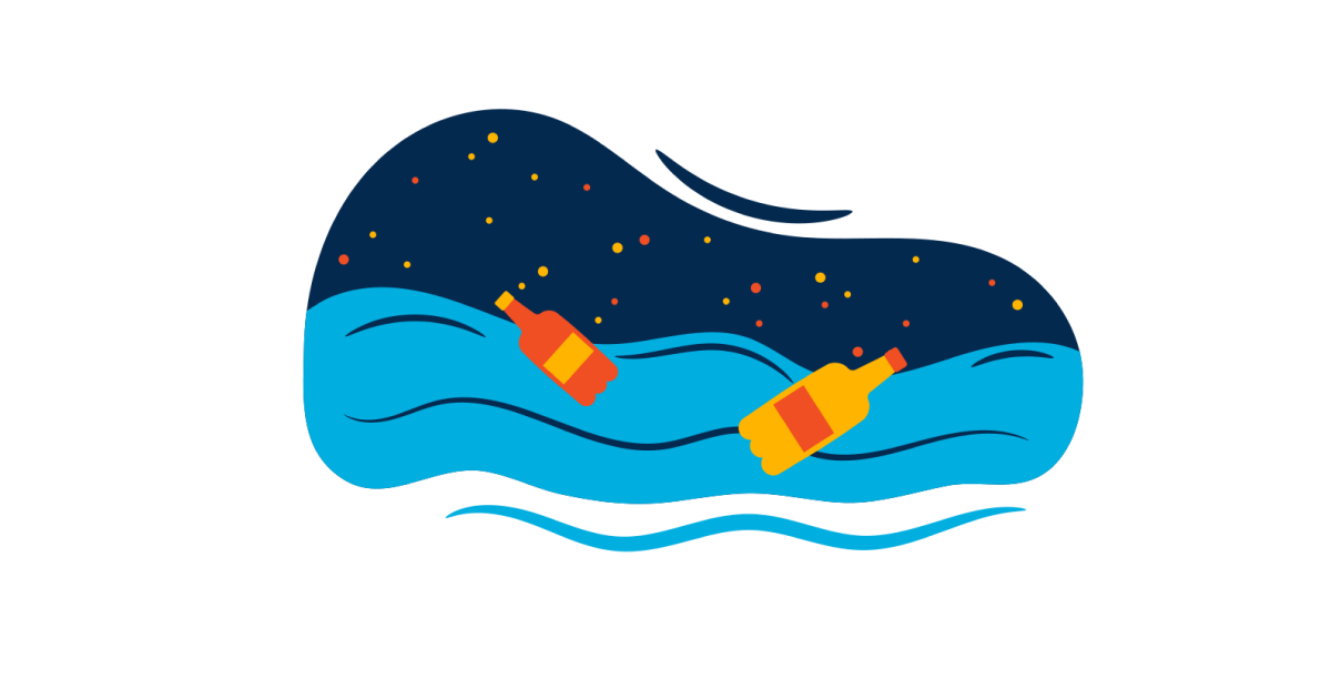 World Environment Day: Sea Pollution illustration in Flame style