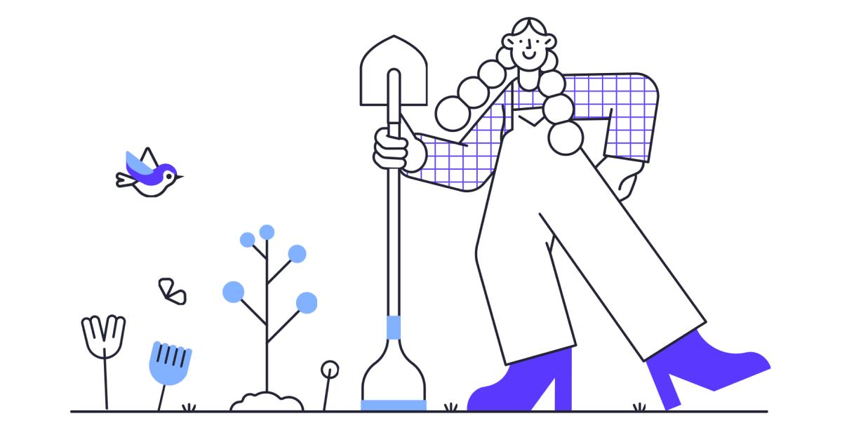 World Environment Day: Gardening illustration in Pablita style