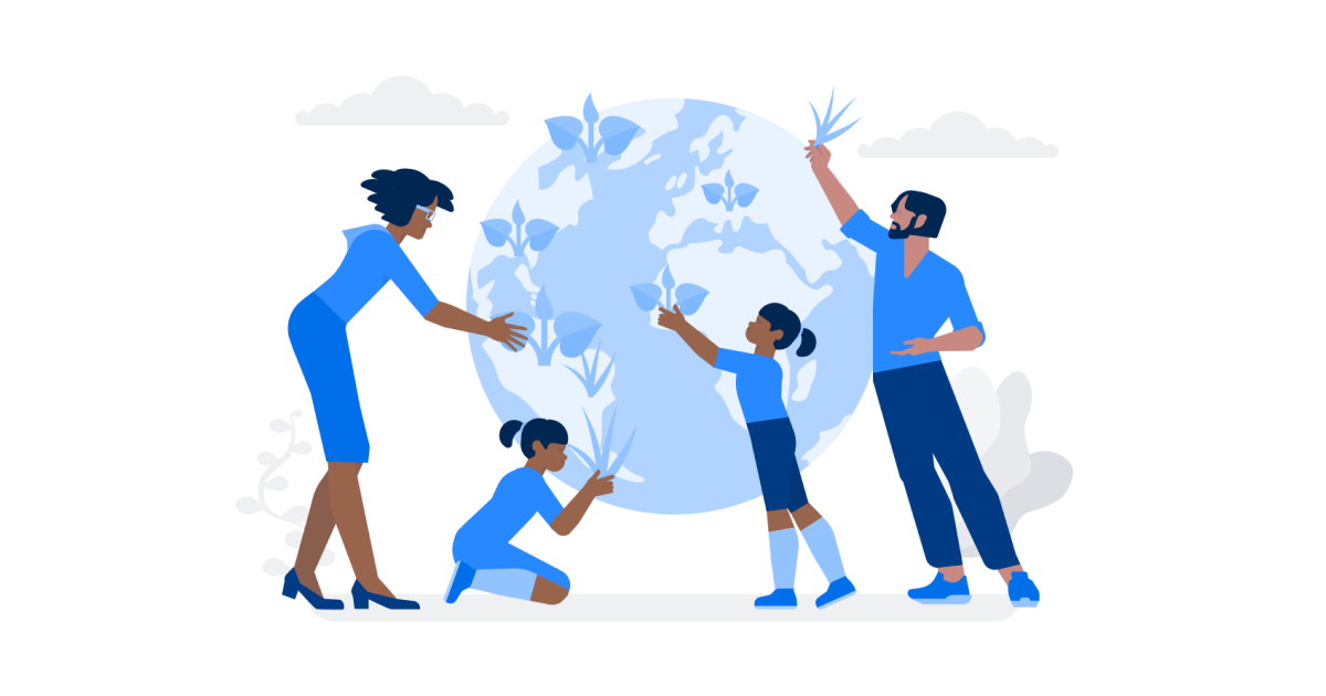 World Environment Day: Planet Care illustration in Urban Style
